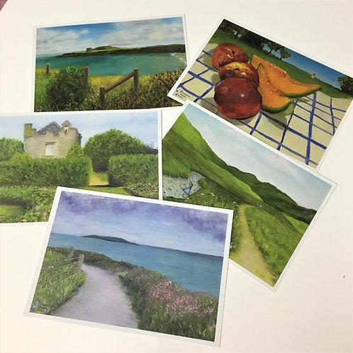 Set of 5 Postcards A5