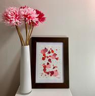 Prink watercolour framed
