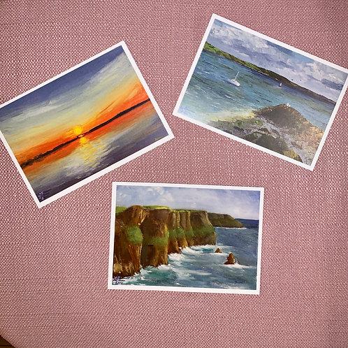 Set of 3 Postcards A5