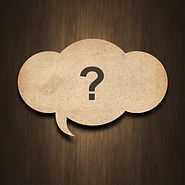text question mark on speech  bubble pap