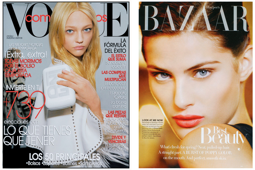 Vogue Spain and Harpers Bazzarr