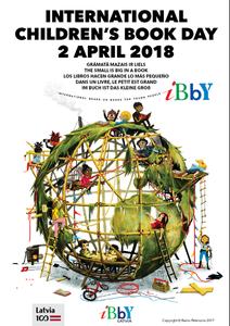 pôster com o tema do Dia Internacional do Livro Infantil deste ano