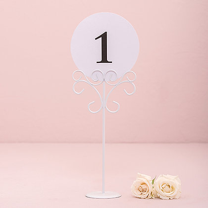 Tall White Place Card Holder
