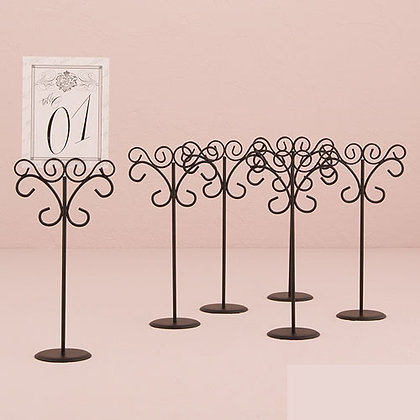 Tall Black Place Card Holder
