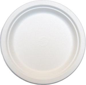 """7"""" Round Sugarcane Dessert Plate [100]"""