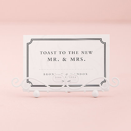 White Place Card Holder