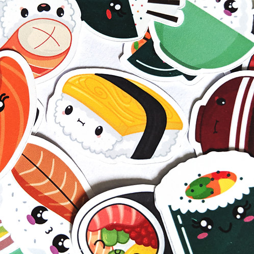 Kawaii Sushi Stickers [40]