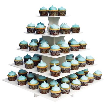 5 Tier Cupcake Stand Square
