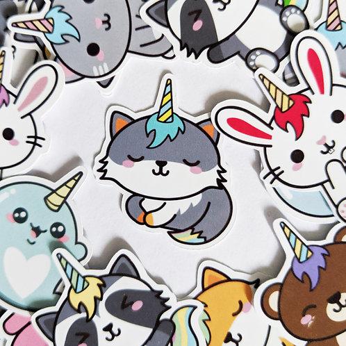 Cute Unicorn Animal Journal Stickers [48]