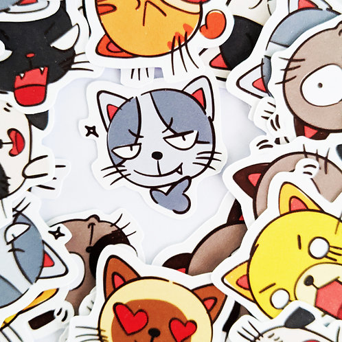 Cat Face Reaction Stickers [42]