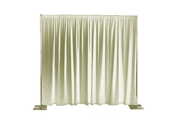 10' Pipe & Drape - Cream
