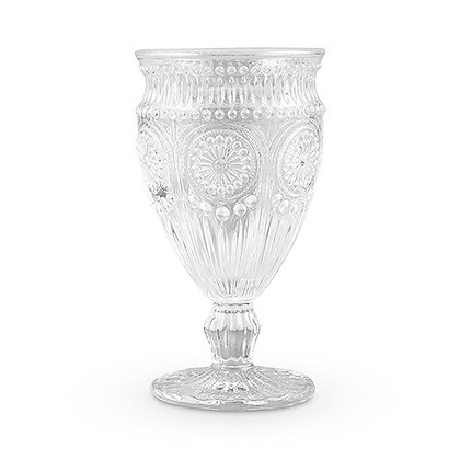 Vintage Style Sweetheart Water/Wine Goblet