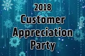 Holiday Customer Appreciation Party is Tomorrow!