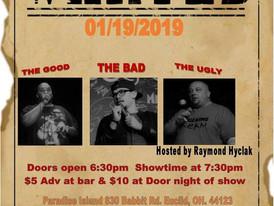 Comedy Night at Paradise this Saturday!
