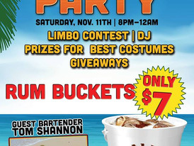 Malibu Beach Party with Tom Shannon as the guest bartender tonight!