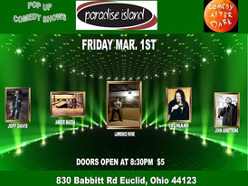 Comedy Show this Friday in Paradise