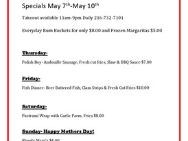 Specials! Specials! Specials!                Give us a call 216-732-7101 to place your order