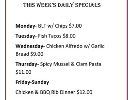 This weeks specials!