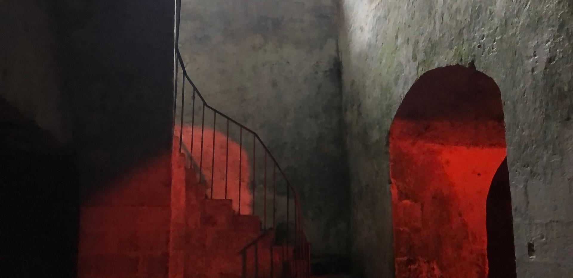 Deep in the cellars