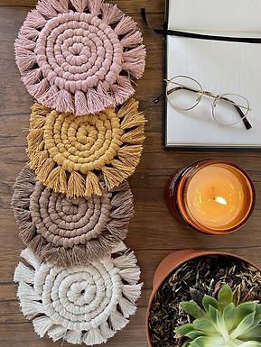 Macramé Spiral Coaster