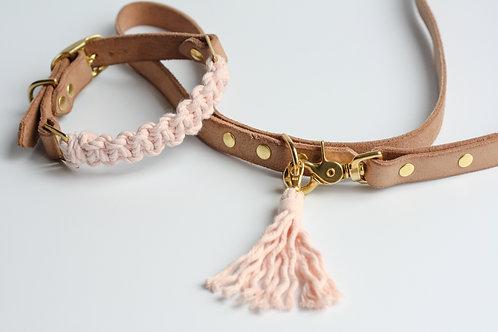 Soft Pink Leash & Collar Set