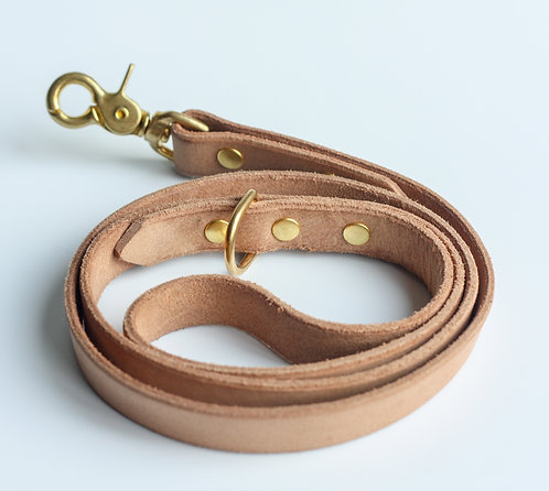 Natural Tan Leather Leash
