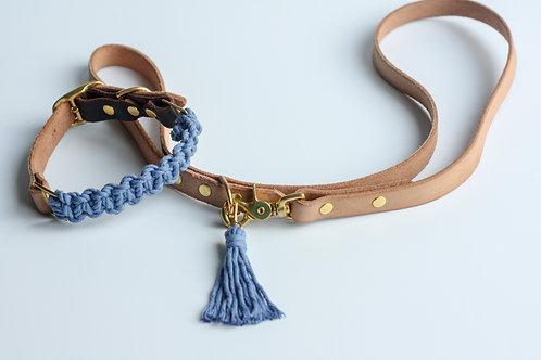 Sky Blue Leash & Collar Set