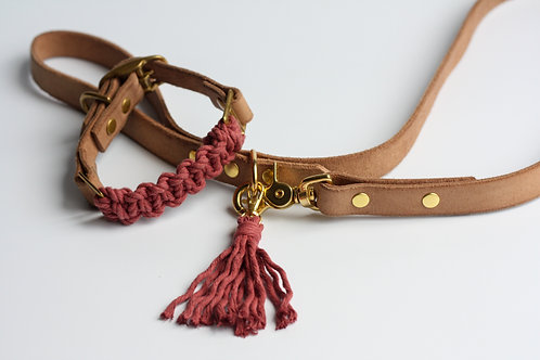 Marsala Leash & Collar Set