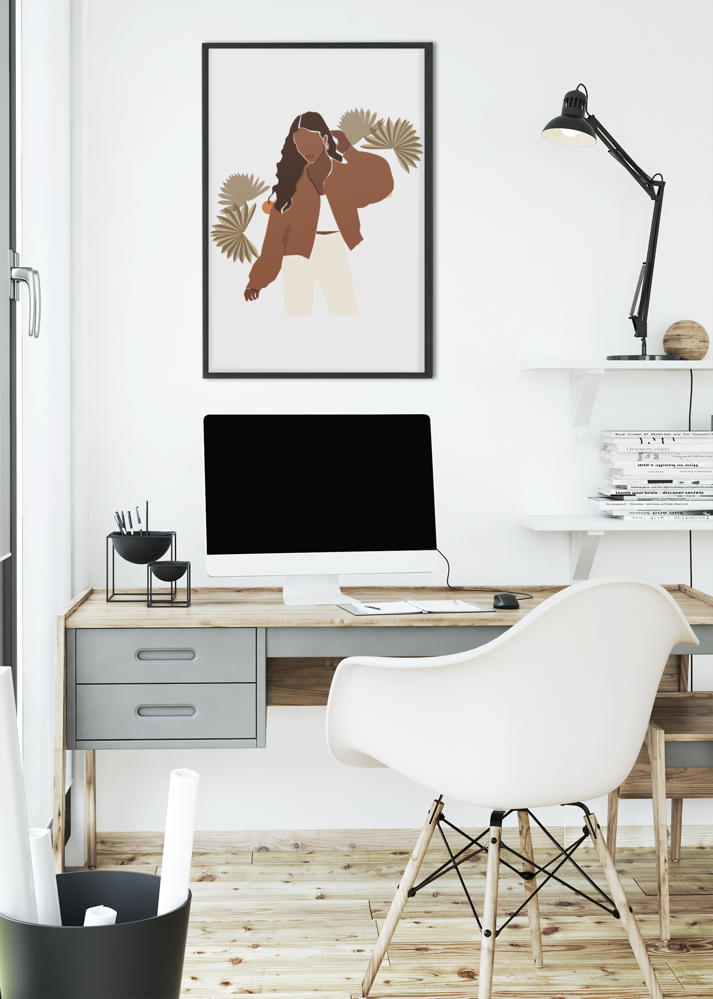 mockup-of-an-art-print-frame-hanged-by-a