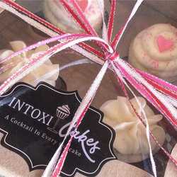 Give the gift of BOOZY CUPCAKES! Baked fresh today for your special valentine, ready for pickup at 3