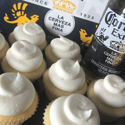 #Corona Infused Cupcakes with a splash of lime, put in your order for #cincodemayoparty today!