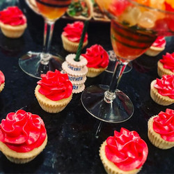 Shimmering Cosmo cupcakes