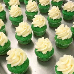 St Patty's Green Whiskey Infused Cupcakes
