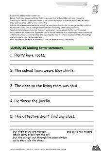 Phonics for SEN Book 5 Working in Senten