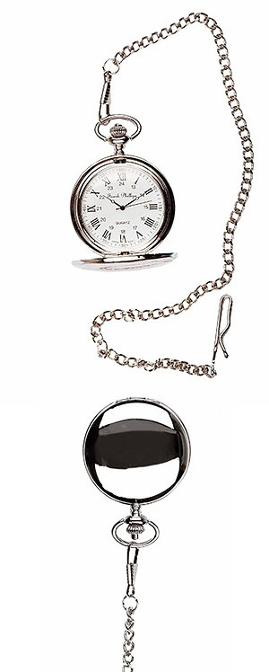 Plain Polished Pocket Watch with Roman Numerals