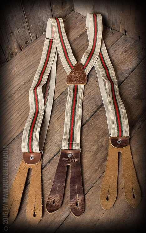 Suspenders Colour combination brown