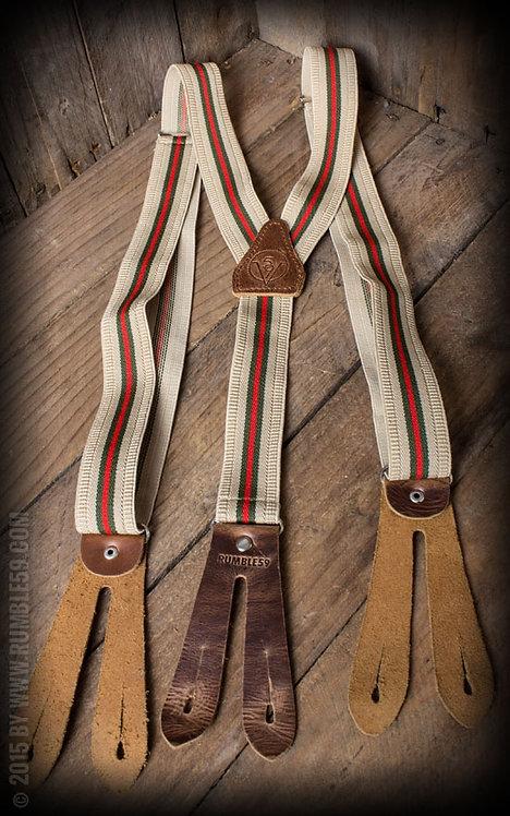 Suspenders colour combination beige