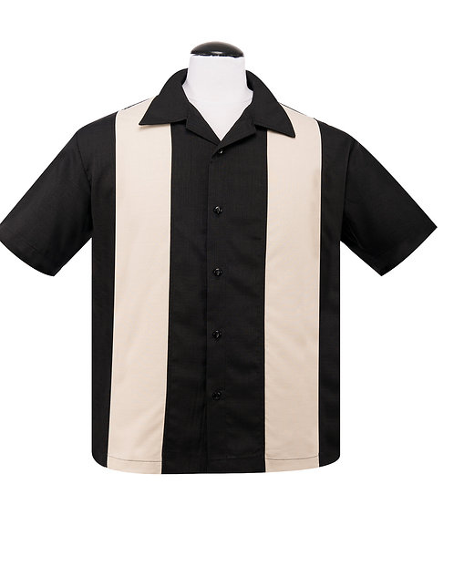 PopCheck Double Panel Button Up in Black/Stone