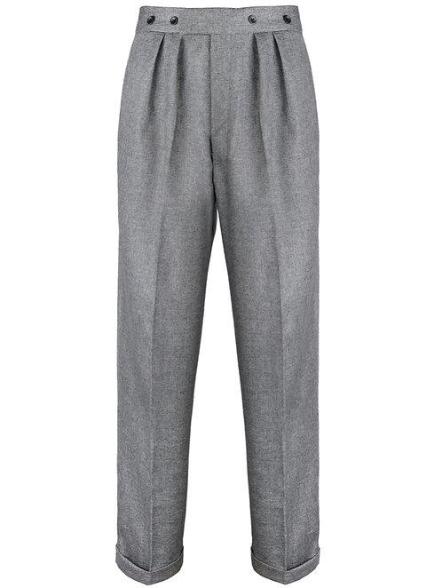 Rivival 1940's Crosshatch grey highwaist trousers