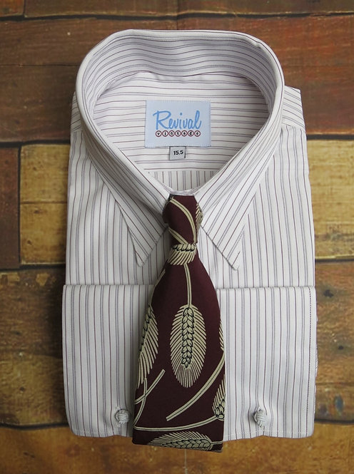 London Stripe 1940's Spearpoint Collar Shirt