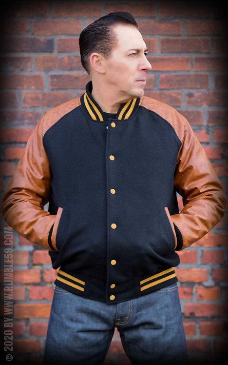 Baseball Jacket - black/brown