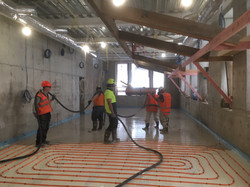 Screed Pour