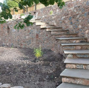Stone steps and landscaping in Devon