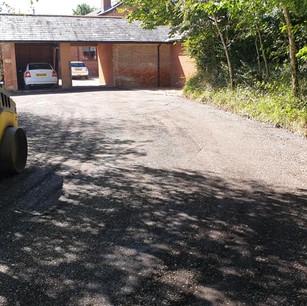 Farm access road in Aylesbeare, Devon