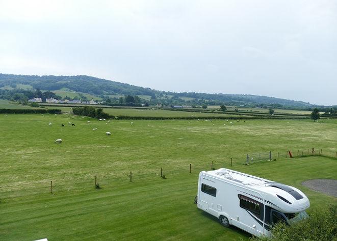 Caravan & Motorhome Club Site near Winchcombe in the Cotswolds
