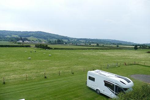 Caravan site near Winchcombe