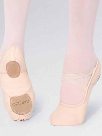 Hunami Canvas Split Sole Stretch Ballet Shoes