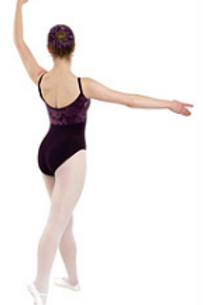 Ballet uniform - Asmara RAD grade 6-8 Burgundy half velvet leotard