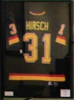 Corey Hirsch Game Worn Vancouver Canucks jersey