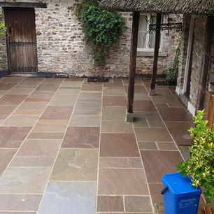 Cottage garden patio build in Axminster Devon